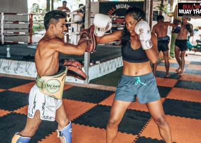 Muay Thai Intense Private Training Session Girl
